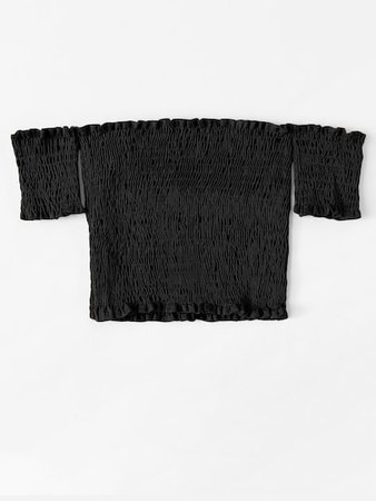Off Shoulder Pleated Crop Top | SHEIN