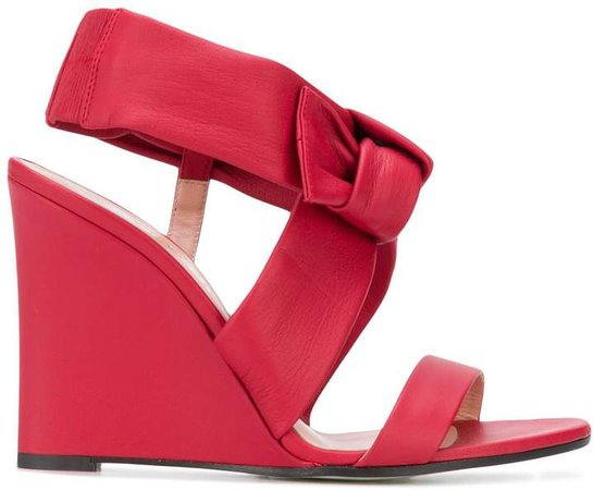 Bow Wedge Heel Sandals