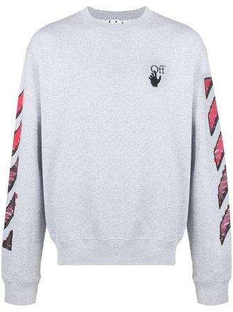 Off-White Marker Arrows Cotton Sweatshirt - Farfetch
