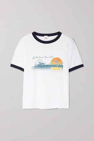 Hanes Printed Cotton-jersey T-shirt - White