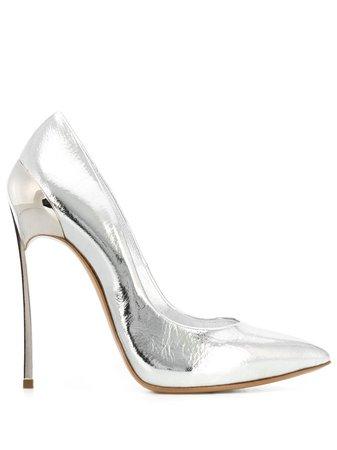 Casadei Metallic High Heel Pumps - Farfetch