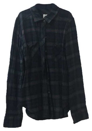 Abercrombie & Fitch Dark Green Flannel Soft Button-down Top Size 4 (S) - Tradesy