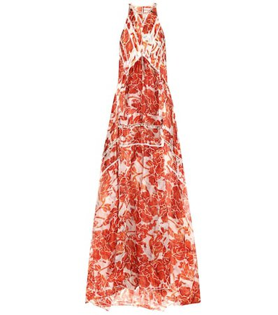 Bellini embellished silk maxi dress