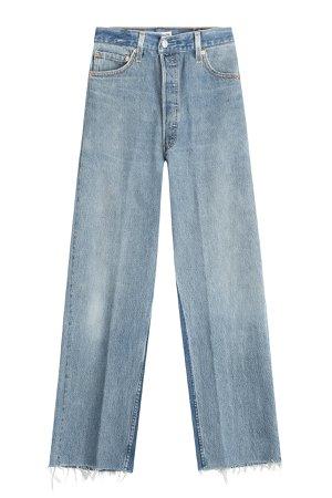 Wide Leg Cropped Jeans Gr. 30