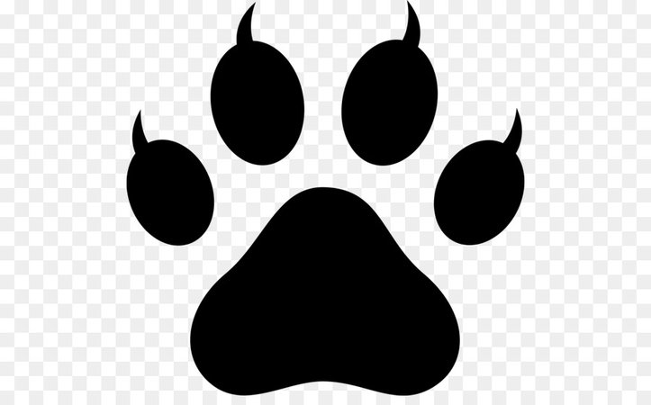 Dog Polydactyl cat Paw Clip art - claw vector png download - 550*547 - Free Transparent Silhouette png Download.