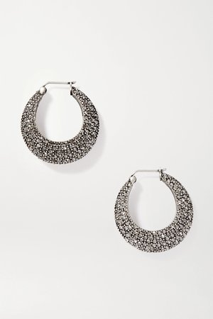 Silver Silver-tone crystal hoop earrings | Etro | NET-A-PORTER
