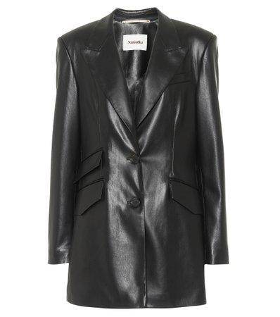 Nanushka - Faux-leather blazer | Mytheresa