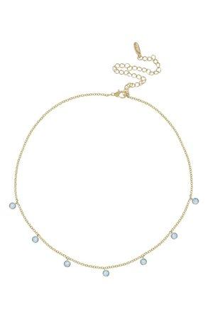 Ettika Blue Opal Disc Station Necklace | Nordstrom