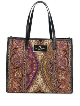 Paisley Print Tote Bag ETRO  Intervista Fashion