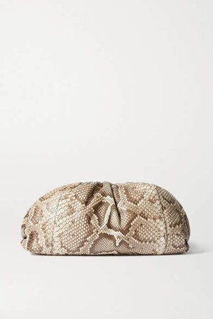 The Pouch Large Python Clutch - Snake print