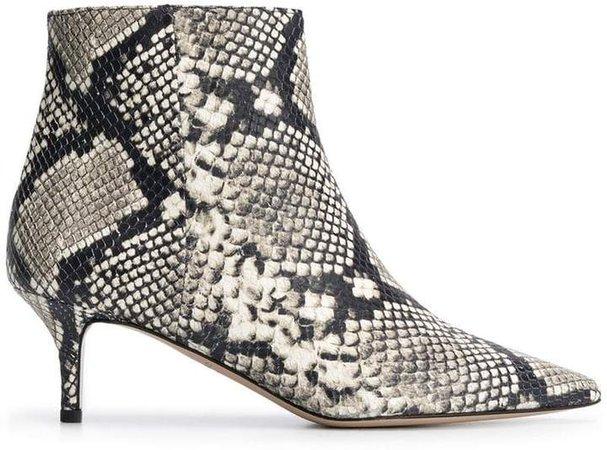 Marc Ellis snakeskin effect ankle boots