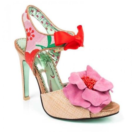 Poetic Licence by Irregular Choice Flower Bee Natural Pink 36 37 38 41   eBay