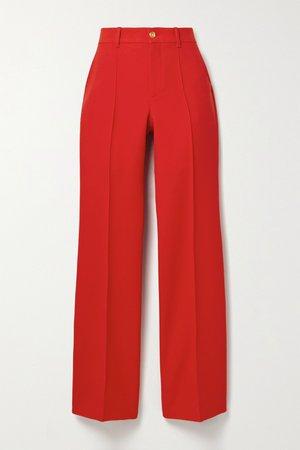 GUCCI, Silk and wool-blend wide-leg pants