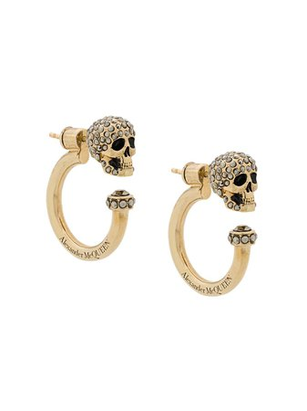 Alexander McQueen Crystal Skull Loop Earring - Farfetch