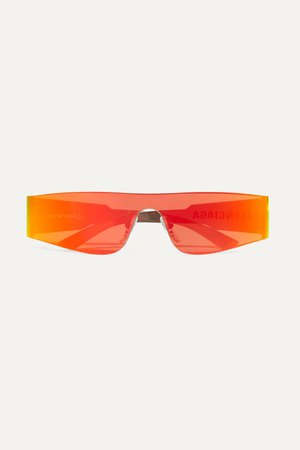 Orange Square-frame acetate mirrored sunglasses | Balenciaga | NET-A-PORTER