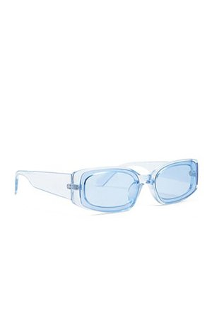 Translucent Rectangle Sunglasses | Forever 21