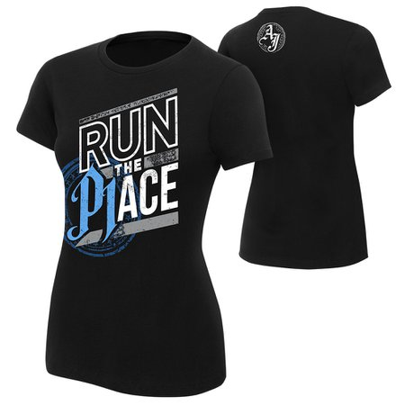"AJ Styles ""Run The Place"" Women's Authentic T-Shirt - WWE US"