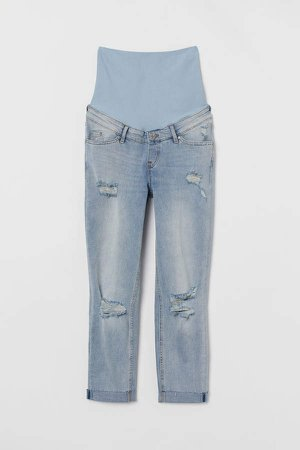 MAMA Girlfriend Ankle Jeans - Blue