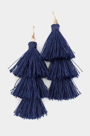 Jolie Tiered Tassel Earrings | francesca's