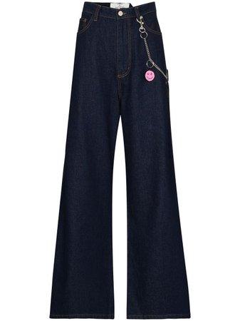Natasha Zinko high-rise wide-leg Jeans - Farfetch