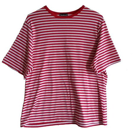 80s 90s Bright Colorful Striped Shirt Size XL Red White Stripe 90s Tee... ($18) ❤ liked on Polyvore featuring tops, t-shirts, t sh… | My Polyvore Finds | Pinte…