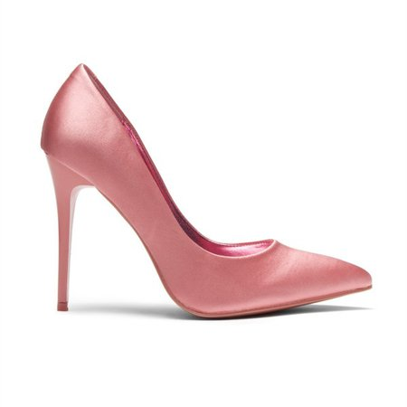 Pink Satin Pointy Toe Stiletto Heels Pumps for Women for Work, Formal event, Music festival, Ball, Date, Big day, Going out | FSJ