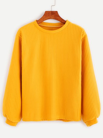 Ribbed Knit Sweatshirt