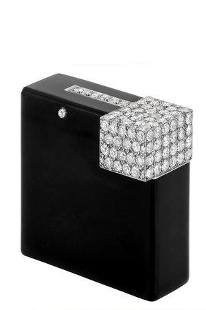 Cartier Black Enamel and Diamond Lighter