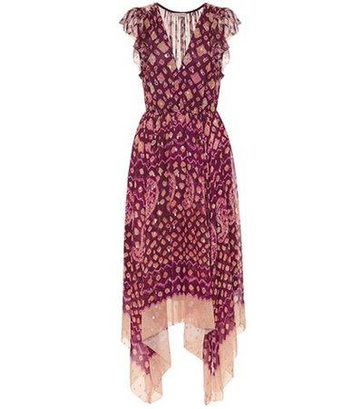 Aurelie fil coupé midi dress