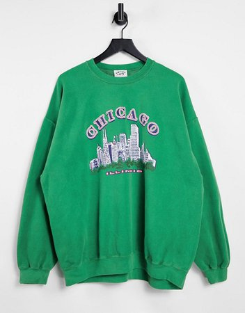 Vintage Supply oversized sweatshirt with chicago graphic   ASOS