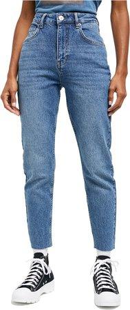 Edie High Waist Raw Hem Skinny Jeans