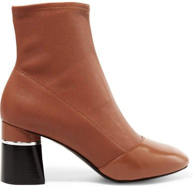 Drum Leather Ankle Boots - Tan