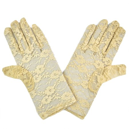 Gold lace gloves 2