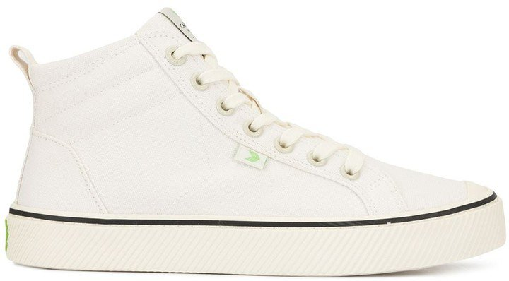OCA High Stripe White Canvas Sneaker