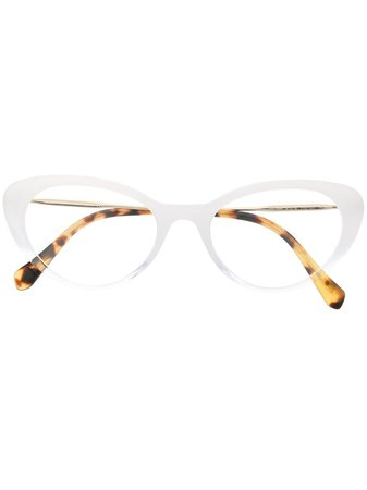 Miu Miu Eyewear Cat-eye Shaped Glasses | Farfetch.com