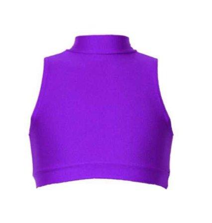 Purple Turtleneck Crop Top