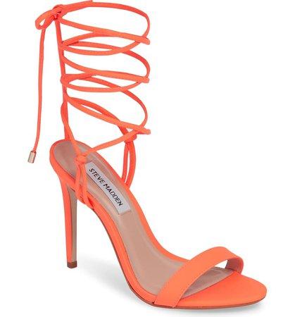 Steve Madden Level Ankle Wrap Sandal (Women) | Nordstrom