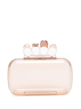 Alexander McQueen Skull Four-Ring clutch bag 657182JA9035800 - Farfetch