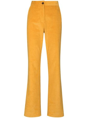 Shop yellow See by Chloé corduroy bootcut trousers with Express Delivery - Farfetch