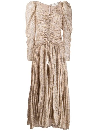 Etro Paisley Print Pleated Maxi Dress - Farfetch