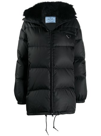 Prada hooded puffer jacket - farfetch