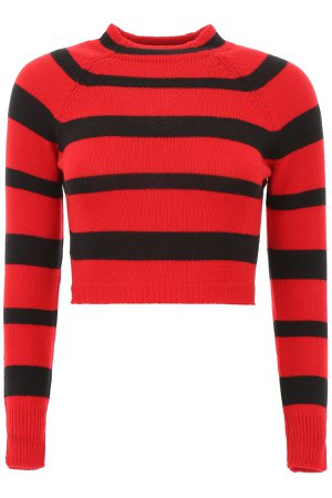 Miu Miu Striped Cashmere Pullover