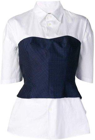 Junya Watanabe corset layer shirt
