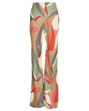 Cult Gaia Kersti Printed Wide-Leg Pants
