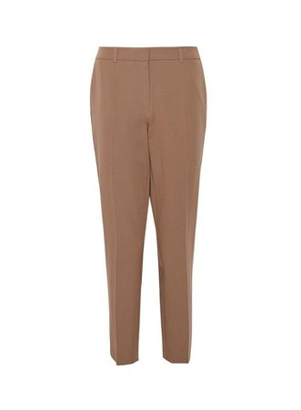 Tan Ankle Grazer Trousers | Dorothy Perkins beige
