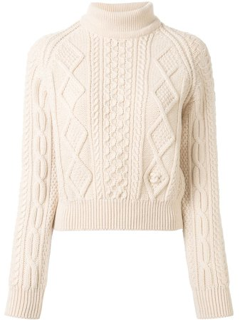 Chanel Pre-Owned 1996 Cable-Knit Jumper Vintage | Farfetch.Com
