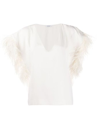 P.a.r.o.s.h. Feathered Top PANTERSD311251P White | Farfetch