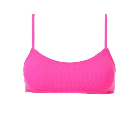 piper ribbed top neon pink