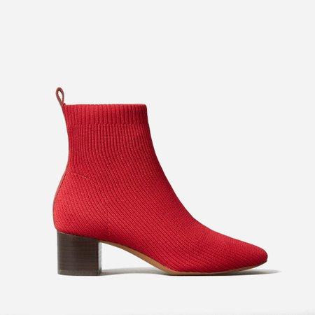Women's Glove Boot ReKnit | Everlane red