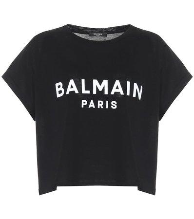 Balmain - Logo cropped cotton T-shirt | Mytheresa